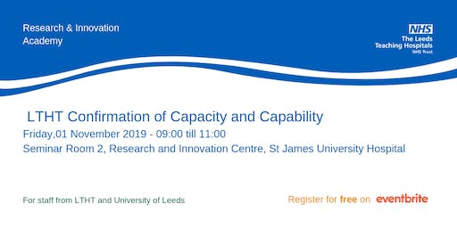 LTHT Confirmation of Capacity and Capability