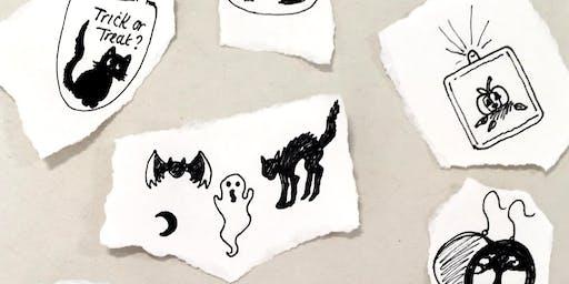 Spooky Vinyl Stickers Barnstaple FabLab
