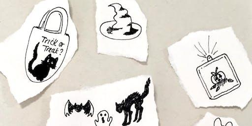 Vinyl Trick or Treat Tote Bags Barnstaple FabLab