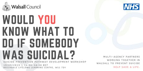 Would you know what to do if someone was suicidal? tickets
