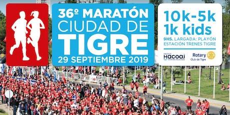 36° Maratón Ciudad de Tigre 2019 entradas