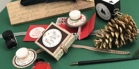Adventsbox kalligrafisch gestalten | Workshop billets