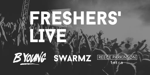 Freshers Live ft. B Young, Swarmz & Reece Parkinson (1xtra)