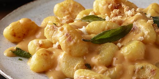 Creating Autumn Gnocchi with a Pumpkin Alfredo Sauce (Meal Included)