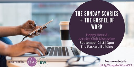 The Gospel of Work Happy Hour Discussion - SheFirst September