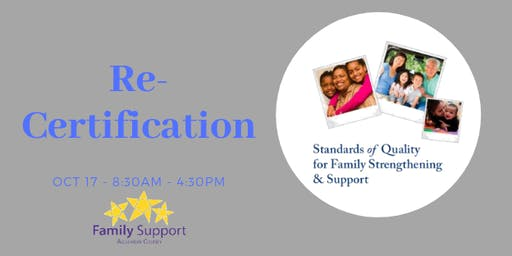 Recertification: Standards of Quality for Family Strengthening & Support 2019