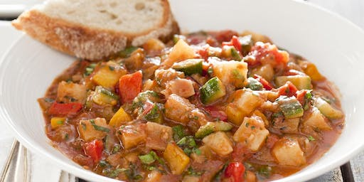 Ciambotto (Italian Vegetable Stew) with Stuffed Bread (Includes Meal)