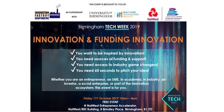 Birmingham Tech Week 2019: Innovation & Funding Innovation tickets