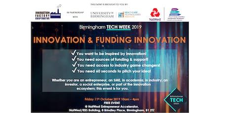 Birmingham Tech Week 2019: Innovation & Funding Innovation tickets
