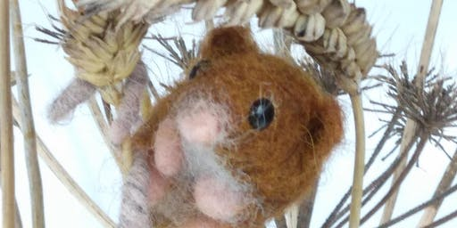 Needle Felt Harvest Mouse Workshop @Craft4Crafters Show - Bath & West