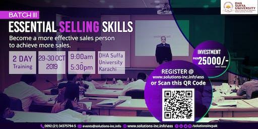 Essential Selling Skills - Batch III