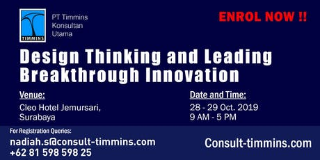 Design Thinking and Leading Breakthrough Innovation in Surabaya tickets