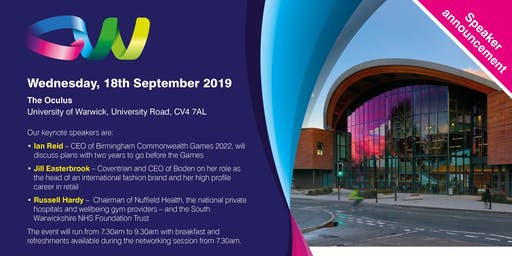Coventry and Warwickshire Champions Event, 18th September 2019