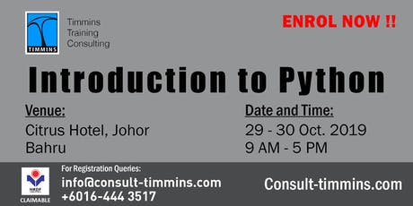 INTRODUCTION TO PYTHON in JOHOR BAHRU tickets