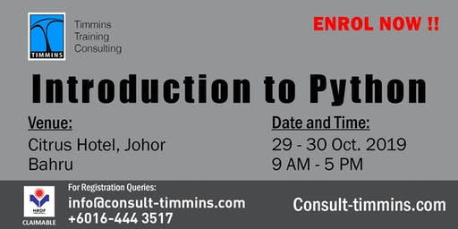 INTRODUCTION TO PYTHON in JOHOR BAHRU