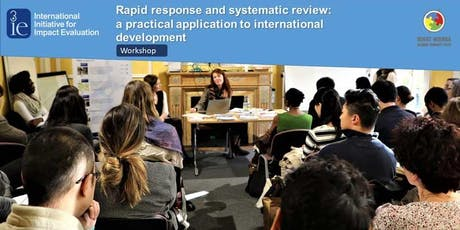 Rapid response and systematic review: A practical application to international development (workshop) tickets