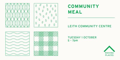 Community Meal: Leith Community Centre tickets