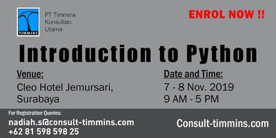 INTRODUCTION TO PYTHON IN SURABAYA