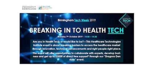 Birmingham Tech Week: Breaking in to Health Tech