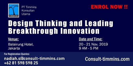 Design Thinking and Leading Breakthrough Innovation in Jakarta tickets