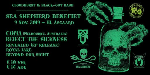 Cloudburst & Black-Out Bash - Sea Shepherd Benefiet