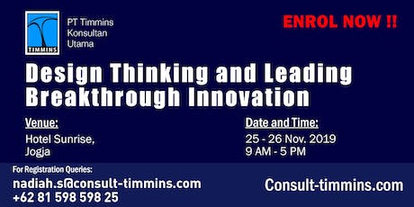 Design Thinking and Leading Breakthrough Innovation in Yogyakarta tickets