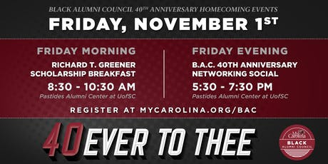 Black Alumni Council 40th Anniversary Networking Social tickets