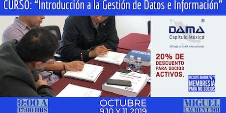 """Curso """"Introducción a la Gestión de Datos e Información"""" tickets"""