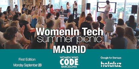 WomenInTech Summer Picnic Madrid (I edition) entradas