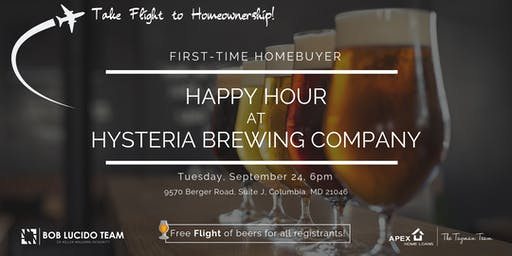 First-Time Homebuyer Happy Hour at Hysteria Brewing Company