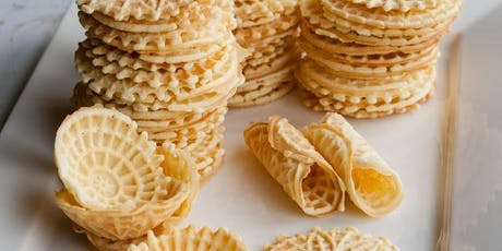 """Mommy and Me"" Pizzelle Making, Kids bring your favorite Adult! Fun Flavors!   tickets"
