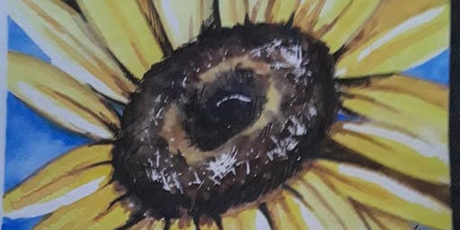 "Grumbacher Watercolor Class; Floral ""Sunny"""
