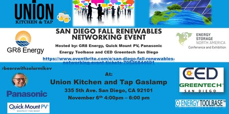 SAN DIEGO FALL RENEWABLES NETWORKING EVENT tickets