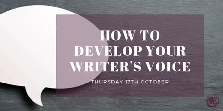 How to Develop Your Writer's Voice tickets