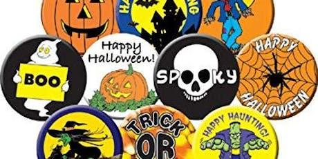 Button Making Class: Halloween tickets
