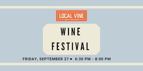 Local Vine Wine Festival tickets