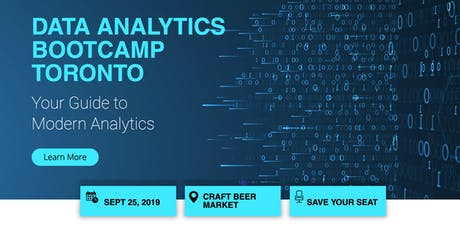 Toronto Data Analytics Bootcamp tickets