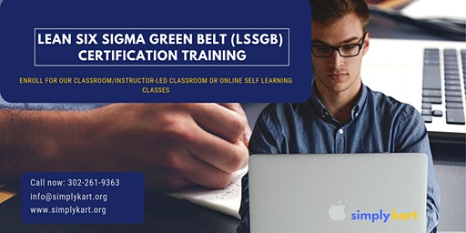 Lean Six Sigma Green Belt (LSSGB) Certification Training in  Iroquois Falls, ON