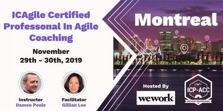 Agile Coach Workshop with ICP-ACC Certification - Montreal - Nov 29 tickets