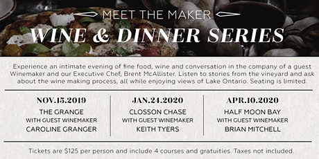 Meet the Maker Wine & Dinner Series  tickets