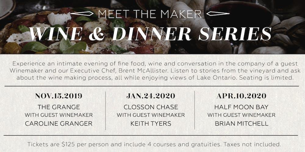 Meet the Maker Wine & Dinner Series Tickets, Multiple Dates