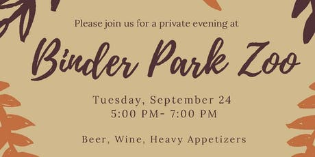 Binder Park Zoo Private Donor Event tickets