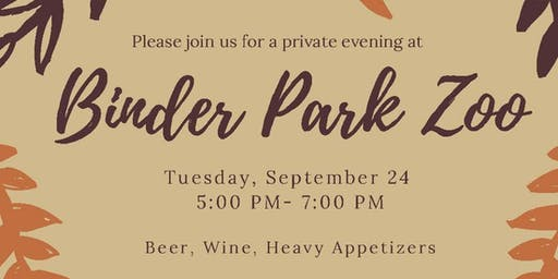 Binder Park Zoo Private Donor Event