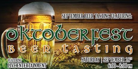 Oktoberfest Beer Tasting tickets