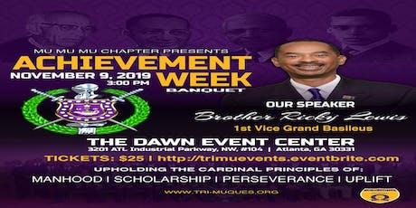 Mu Mu Mu Chapter Presents  Achievement Week tickets