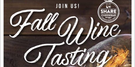 Fall Wine & Cheese Pairing - seating 2 tickets