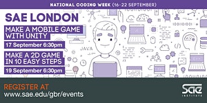 SAE London: Make a 2D Game in 10 Easy Steps