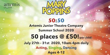 50:50 Summer School 2020 for £50! tickets