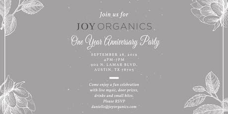 Joy Organics One Year Anniversary Party tickets