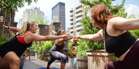 Drunk Yoga® at Freehand Hotel's ROOFTOP...FREE wine! *Fridays & Saturdays in Flatiron tickets
